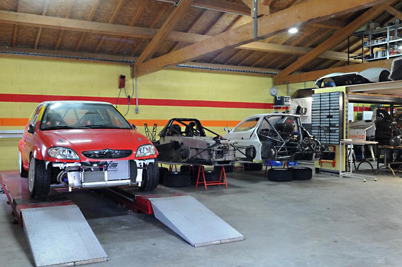 Atelier préparation et mise au point véhicules de compétiton